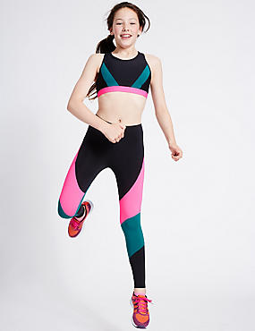 Colour Block Leggings (5-14 Years)