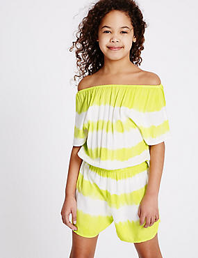 Striped Tie Dye Playsuit (3-14 Years)