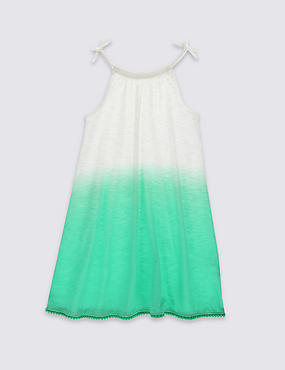 Pure Cotton Dip Dye Dress (3-14 Years)
