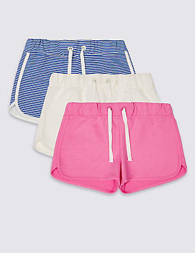 3 Pack Cotton Rich Shorts with StayNEW™ (3-14 Years)
