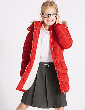 Longline Padded Coat With Stormwear™ (3-16 Years)