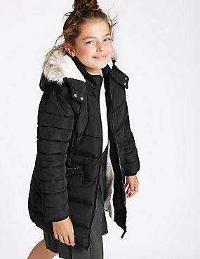 Faux Fur Zip Through Padded Coat (3-16 Years)