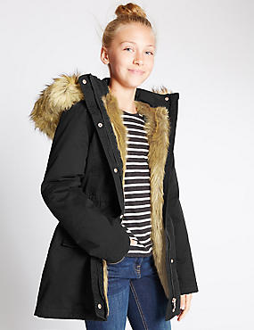 Pure Cotton Parka with Stormwear™ (5-14 Years)