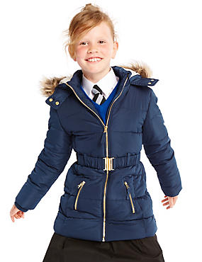 Longline Belted Coat with Stormwear™ (3-16 Years)