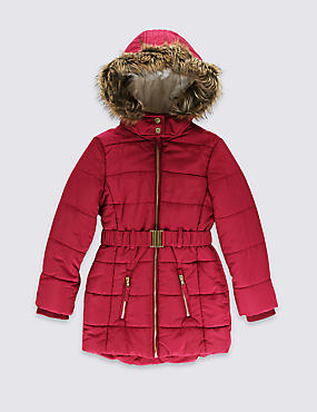Hooded Longline Coat with Stormwear™ (3-14 Years)