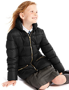 Zipped Through Padded Coat with Stormwear™ (3-16 Years)
