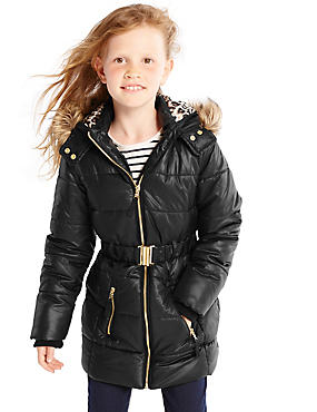 Hooded Belted Coat with Stormwear™ (3-16 Years)
