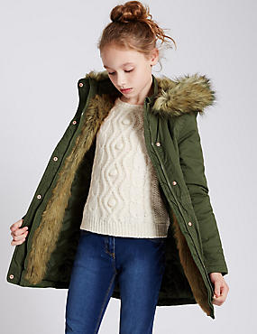 Pure Cotton Parka Coat (5-14 Years)