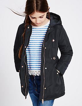 Hooded Parka Coat (3-14 Years)