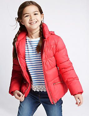 Collared Neck Padded Coat (3-14 Years)