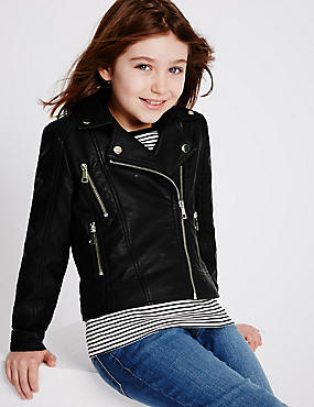 Girls Black Jackets & Coats | Buy Kids Jacket Online | M&S