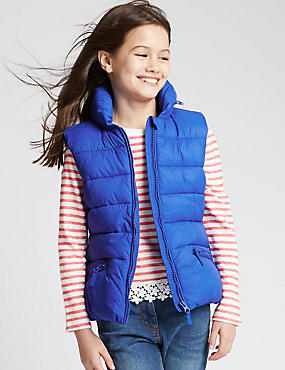 Collared Neck Sleeveless Gilet (3-14 Years)