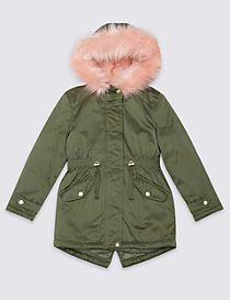 Faux Fur Zip Through Parka (3-14 Years)