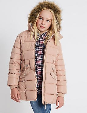 Faux Fur Padded Coat with Stormwear™ (3-14 Years)