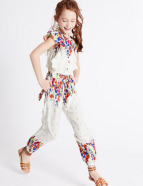 Floral Print Jumpsuit (3-14 Years)