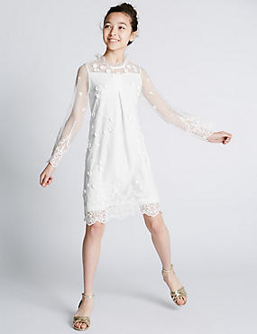 Embroidered Lace Dress (5-14 Years)