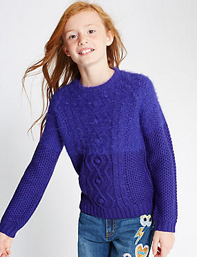 Long Sleeve Fluffy Jumper (5-14 Years)
