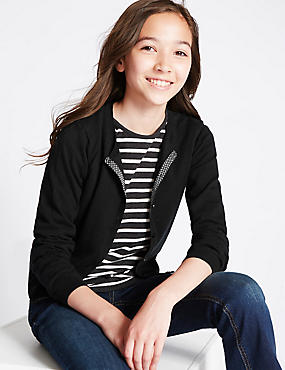 Cotton Rich Simple Cardigan (3-14 Years)