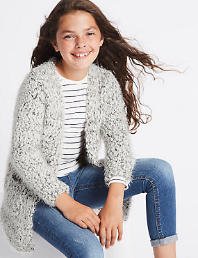 Longline Open Front Cardigan (3-14 Years)