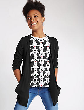 Open Front Longline Cardigan with StayNEW™ (5-14 Years)