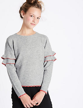 Long Sleeve Frill Jumper (3-14 Years)