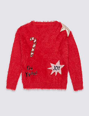 Sequin Christmas Jumper (3-14 Years)