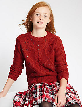 Round Neck Long Sleeve Jumper (5-14 Years)