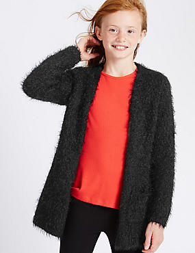 Pom Eyelash Cardigan (5-14 Years)