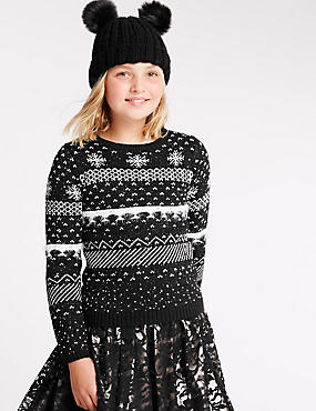 Long Sleeve Fairisle Jumper (5-14 Years)