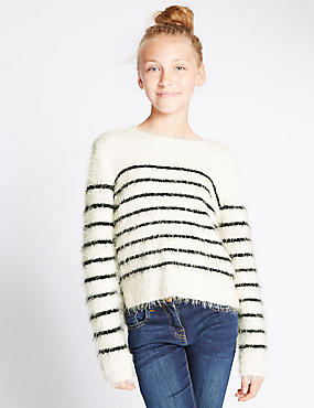 Striped Long Sleeve Jumper (5-14 Years)