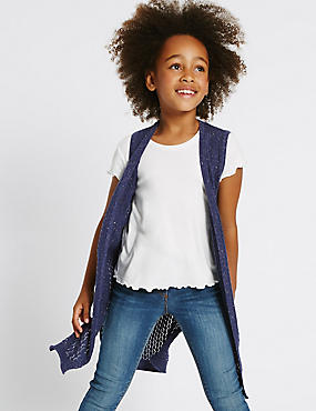 Cotton Rich Longline Cardigan (3-14 Years)