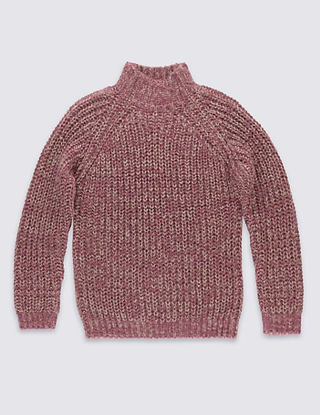 Chunky Roll Neck Jumpers (5-14 Years)