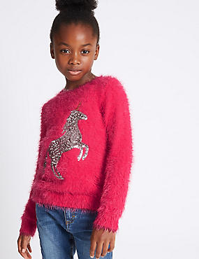 Sequins Eyelash Jumper (3-14 Years)