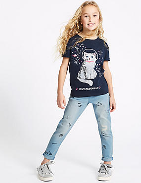 Cotton Doodle Jeans with Stretch (3-16 Years)