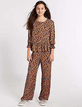 Animal Printed Trousers (3-16 Years), MULTI, catlanding