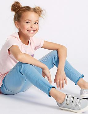 Cotton Rich Skinny Fit Jeans (3-16 Years), DENIM, catlanding