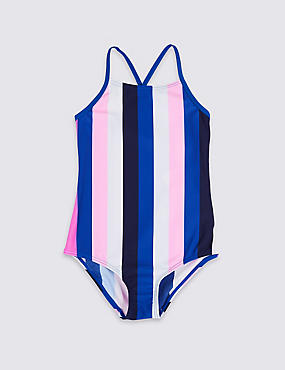 Swimsuit with Sun Safe UPF50+ (3-16 Years), BLUE MIX, catlanding