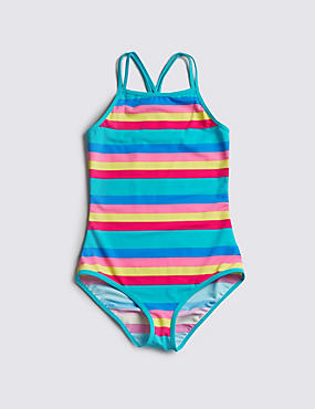 Lycra® Xtra Life™ Chlorine Resistant Striped Swimsuit (5-14 Years)