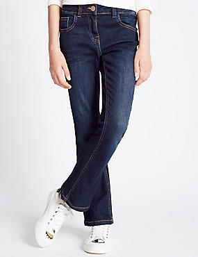 Cotton Kick Flare Fit Jeans with Stretch (3-14 Years)