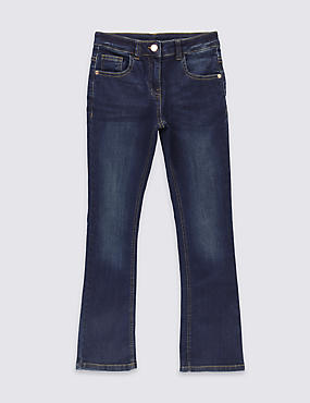 Cotton with Stretch Kick Flare Fit Jeans (3-14 Years)