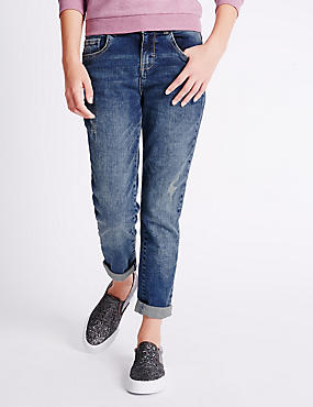 Cotton Rich with Stretch Boyfriend Jeans (3-14 Years)