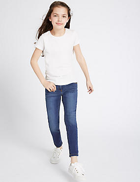 Cotton Skinny Fit Jeans with Stretch (3-14 Years)