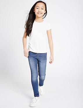High Waisted Distressed Skinny Jeans (3-14 Years)