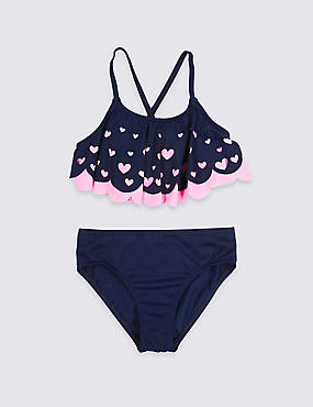 Heart Bikini Set with Lycra® Xtra Life™ (5-16 Years)