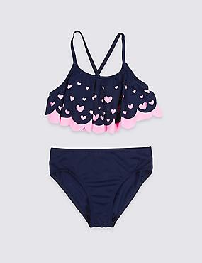 Bikini Set with Sun Safe UPF50+ (5-16 Years), PINK MIX, catlanding