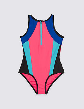Colour Block Swimsuit with Lycra® Xtra Life™ (3-16 Years)