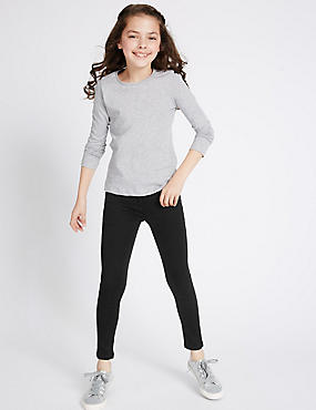 Cotton Rich with Stretch Super Skinny Leg Jeans (3-14 Years)