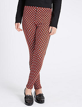 Dogtooth Checked Jeggings (5-14 Years)