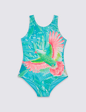 Bird Print Swimsuit with Lycra® Xtra Life™ (3-16 Years)