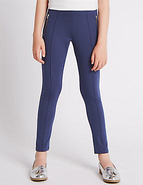 Zipped Pocket Ponte Treggings (5-14 Years)